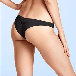 Victoria Secret Pink bikini bottoms black